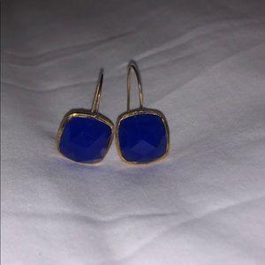CALYPSO blue dangling earrings